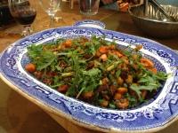 butternut squash, lentil and rocket salad