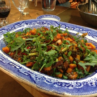 butternut squash, lentil and rocket salad