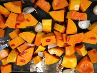 garlic, chilli and butternut squash