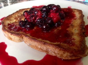 Eggy Bread with Summer Berries