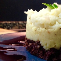 Timbale of haggis neeps and tatties