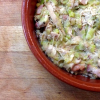 chicken and leek