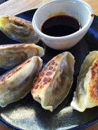 Steamed pulled pork gyoza