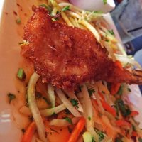 Crab and papaya salad, LA