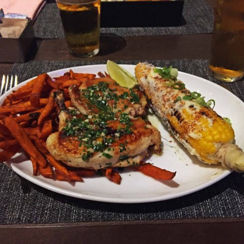 Lime Chicken and sweet potato fries, Urban Tavern, LA